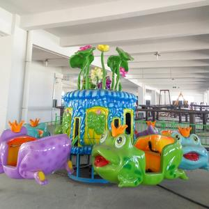 customized Amusement Park Ride Electric cartoon Plane Rotary Rides manufacturer