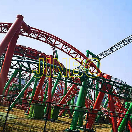 Outdoor Giant 3 Loops Roller Coaster