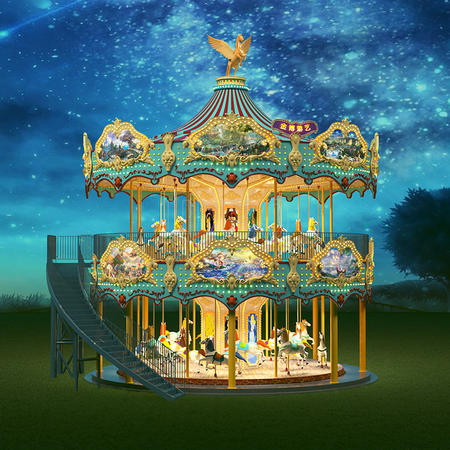 New Design Double Decker Carousel for Sale