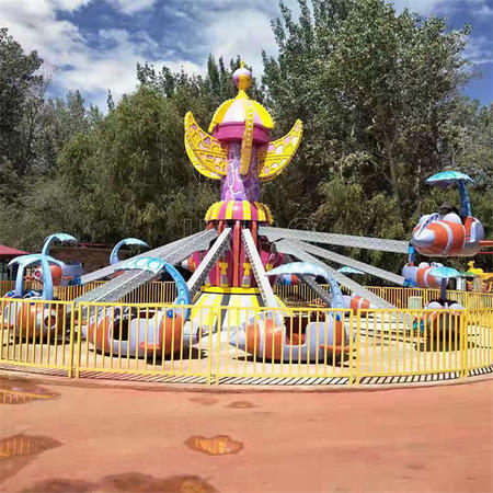 Indoor and Outdoor Playground Amusement Park Rotating and Lifting Up and Down Kiddie Ride 24 Seats Self Control Plane Manufacturer