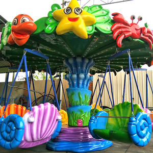 outdoor amusement park attractions small flying chair rides for kids for sale