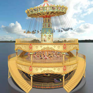 Amusement Park Product Game Machine 3 In 1 Flying Chair and Bumper Car