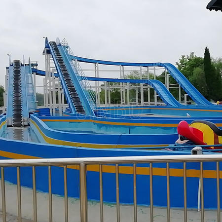 Outdoor Land Amusement Park Water Play Two Phases Lifting Torrent Subduction Water Flume Ride for Same Made by China Jinbo