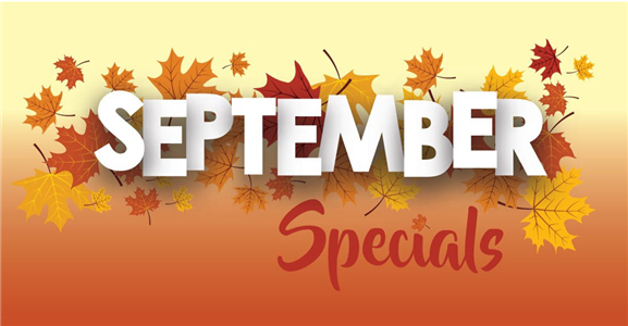 Golden Sept. Specials $ Off