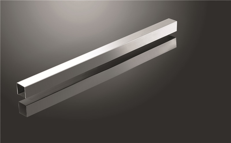 brushed stainless steel tube