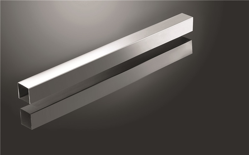 brushed stainless steel pipe