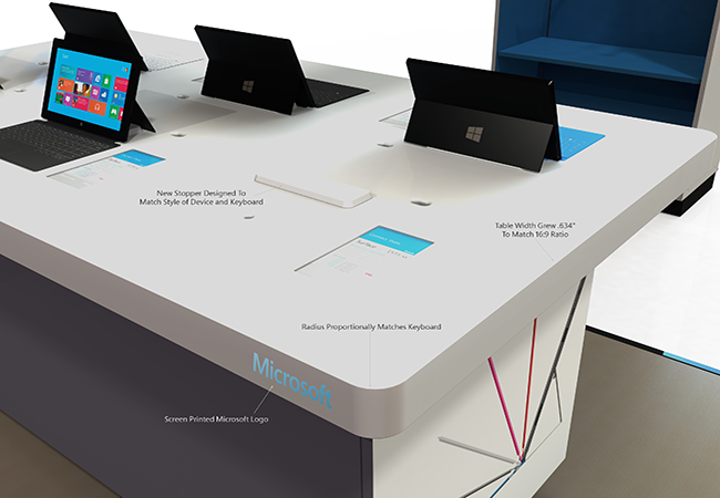 Microsoft-Display Modern Display Cabinet and Table