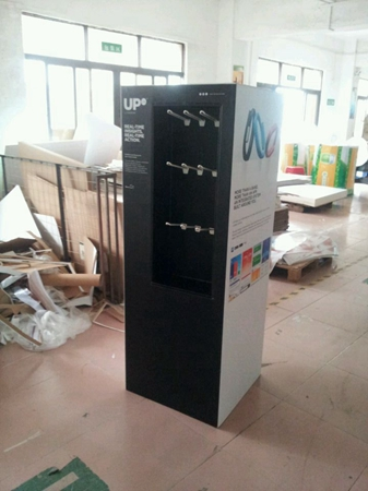 Jawbone-Upright Point of Sale Cardboard Display Stand