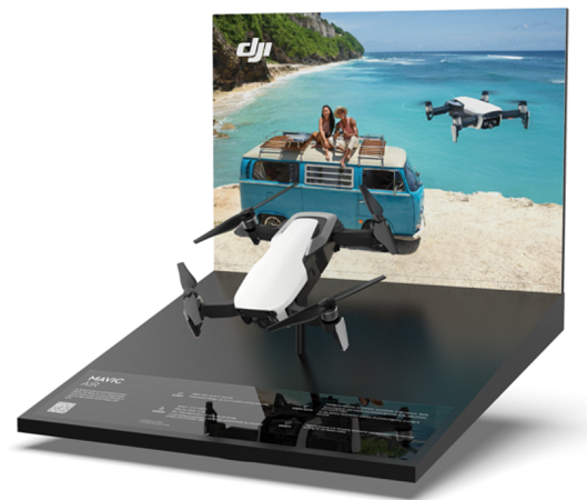 DJI-Countertop Display Rack