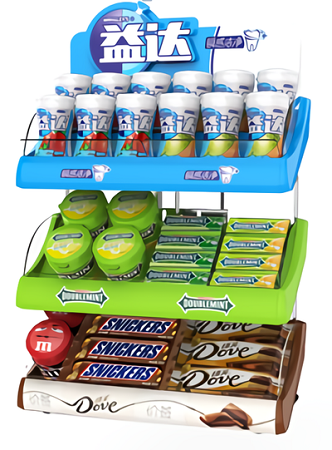 Mars Wrigley-Chewing Gum POS Counter Display