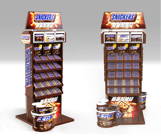 Mars Wrigley-Snickers Station Chocolate Product Display Stand