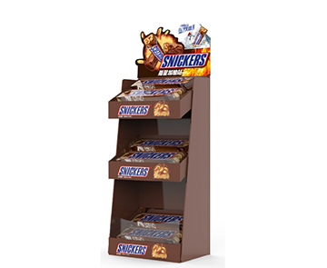 Mars Wrigley-Snickers Retail Display Corner Display Shelf