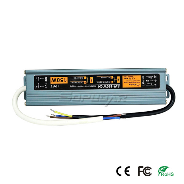 SW-150W-24G Slim LED Power Supply
