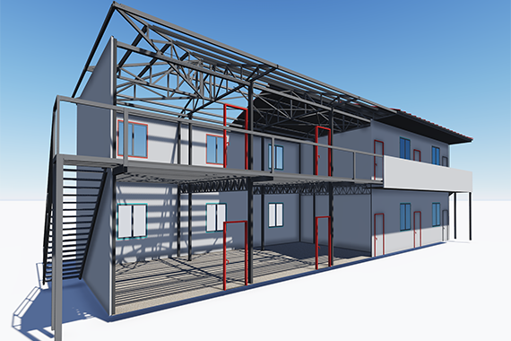 Explain in detail why the Container Prefab House is easy to use