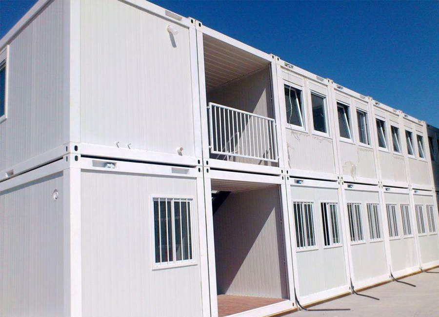 The designing of container houses.