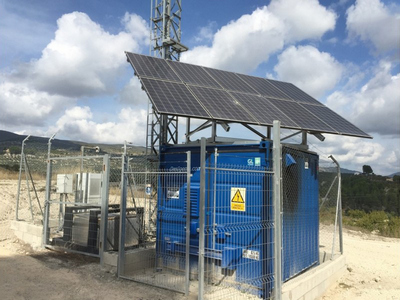 Solar Off-grid ESS Project of Base Station in Spain