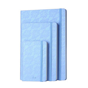 Lace Gradient Color PU Leather Hardcover Stone Paper Business Notepads(with Rope) YH-J6437/3237/1637