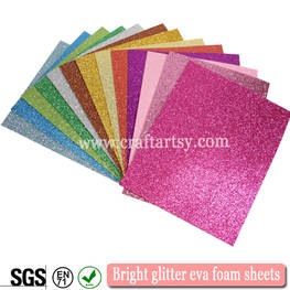 Bright glitter eva foam sheets