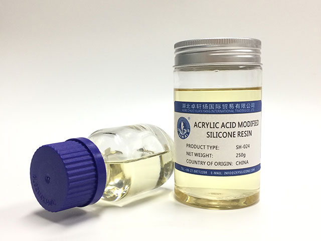 Acrylic acid modified organic silicone resin