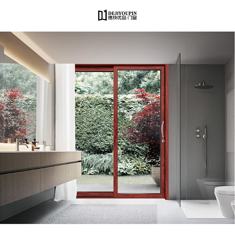 D136D Aluminium double sliding doors