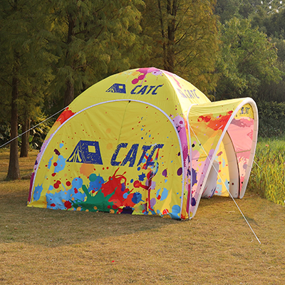clear inflatable tent