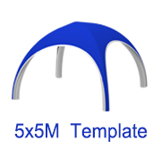 5mx5m X Tent Template