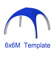 6mx6m X Tent Template