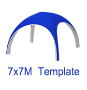 7mx7m X Tent Template