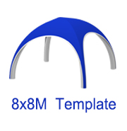 8mx8m X Tent Template
