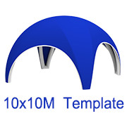 10mx10m Spider Tent Template