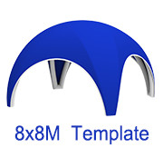 8mx8m Spider Tent Template