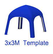 3mx3m Yurt Tent Template