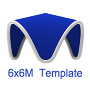 6mx6m V Tent Template