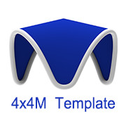 4mx4m V Tent Template