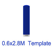 0.6m x2.8m Inflatable tube template