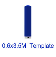 0.6m x3.5m Inflatable tube template