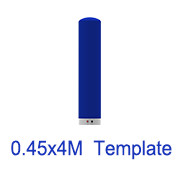 0.45m x 4m Inflatable tube template