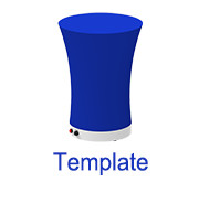 Inflatable cocktail bar desk 1 template