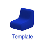 Inflatable chair template