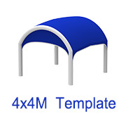 4m X 4m Inflatable N tent template