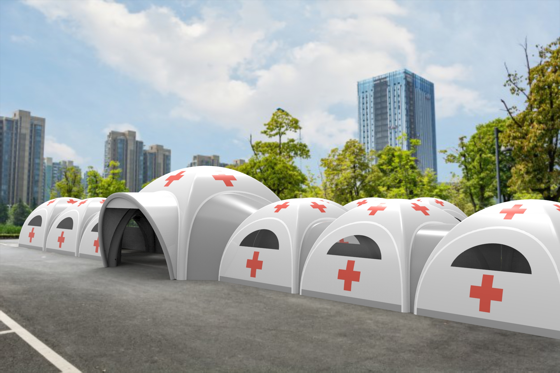 One of New inflatable medical rescue tent will be released by CATC outdoor to help together to prevent the coronavirus!