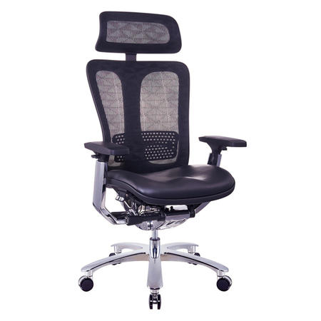 JNS-901 mesh back leather seating ergonomic boss chair