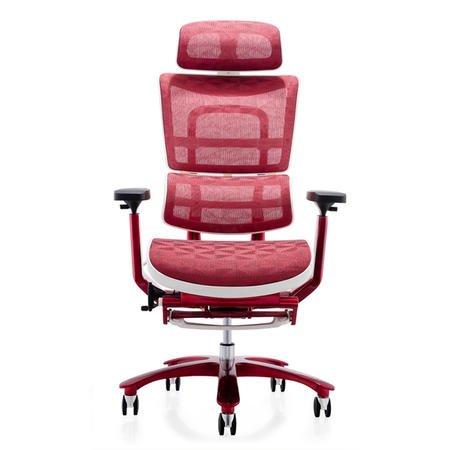 JNS-809L Red plating office chair with footrest