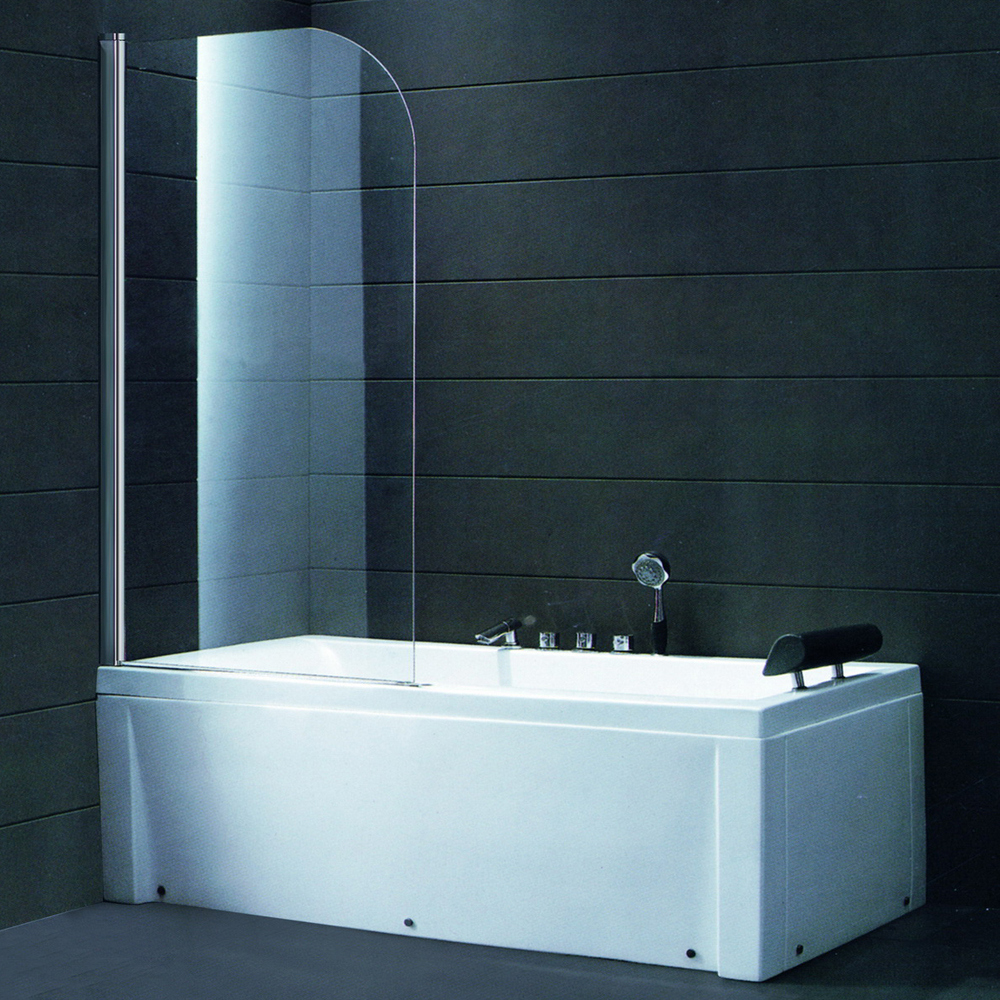 connect half radius bath screen