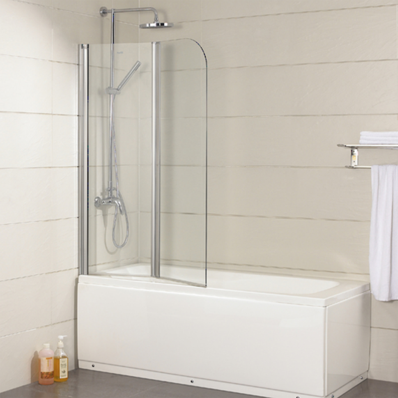welleader adjustable bathtub shower screen