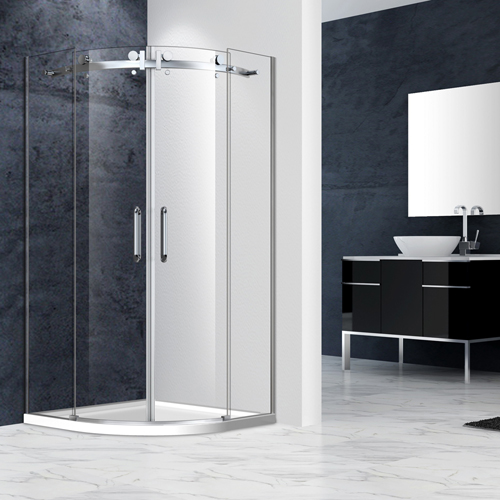 Frameless Curved Quadrant Shower Enclosure