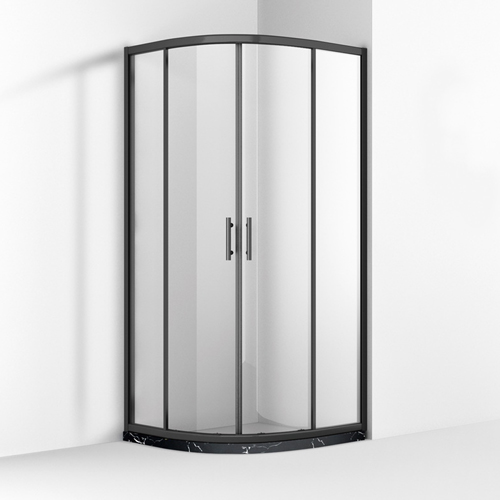 frameless pivot quadrant shower enclosure