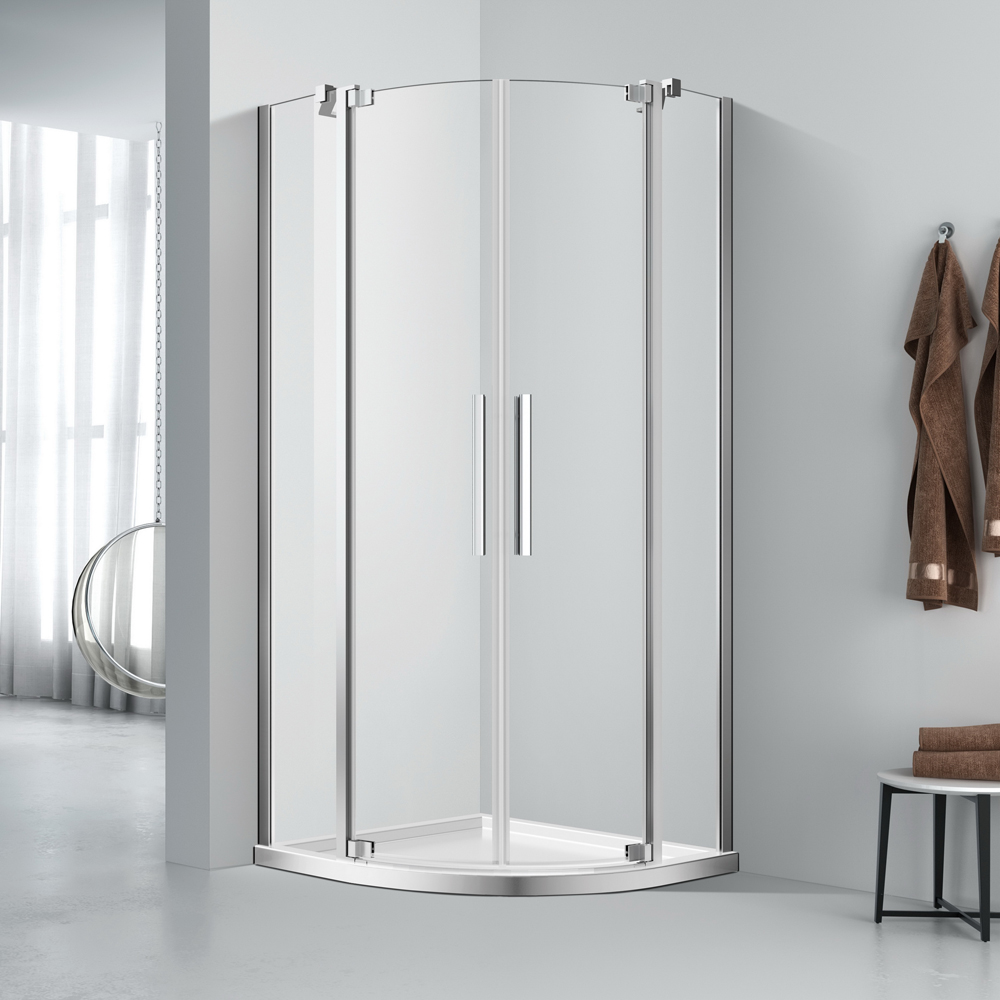 Quadrant twin pivot doors shower enclosure