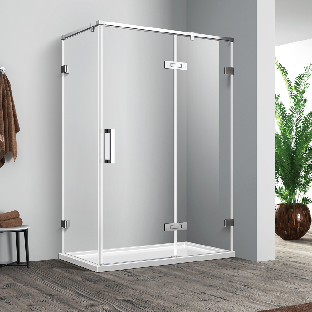 frameless swing door
