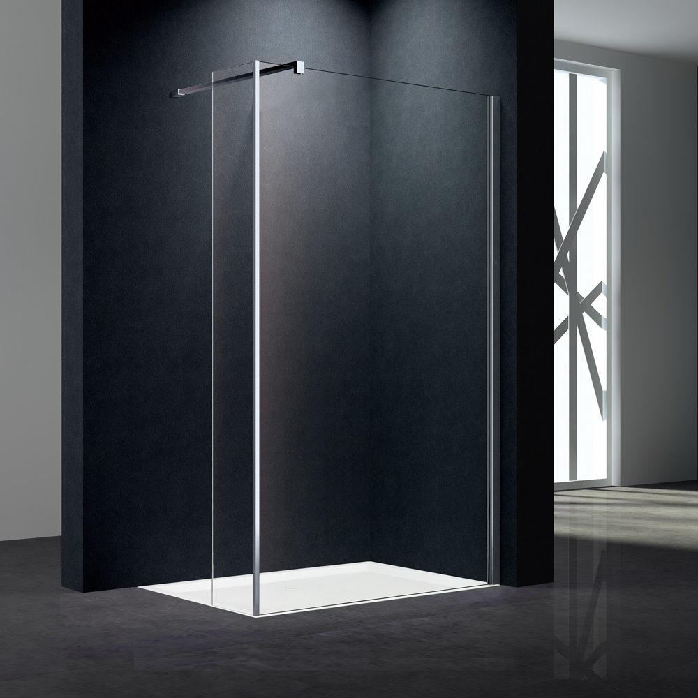shower screen with flipper